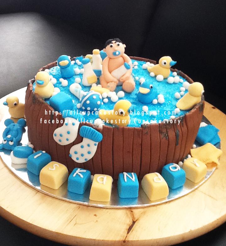 allcupcakestory: Baby in a Bath Tub Cake