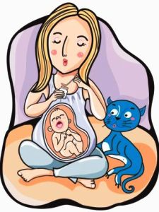 alien, kucing, parasit, anak, baby, bersalin, virus, cat