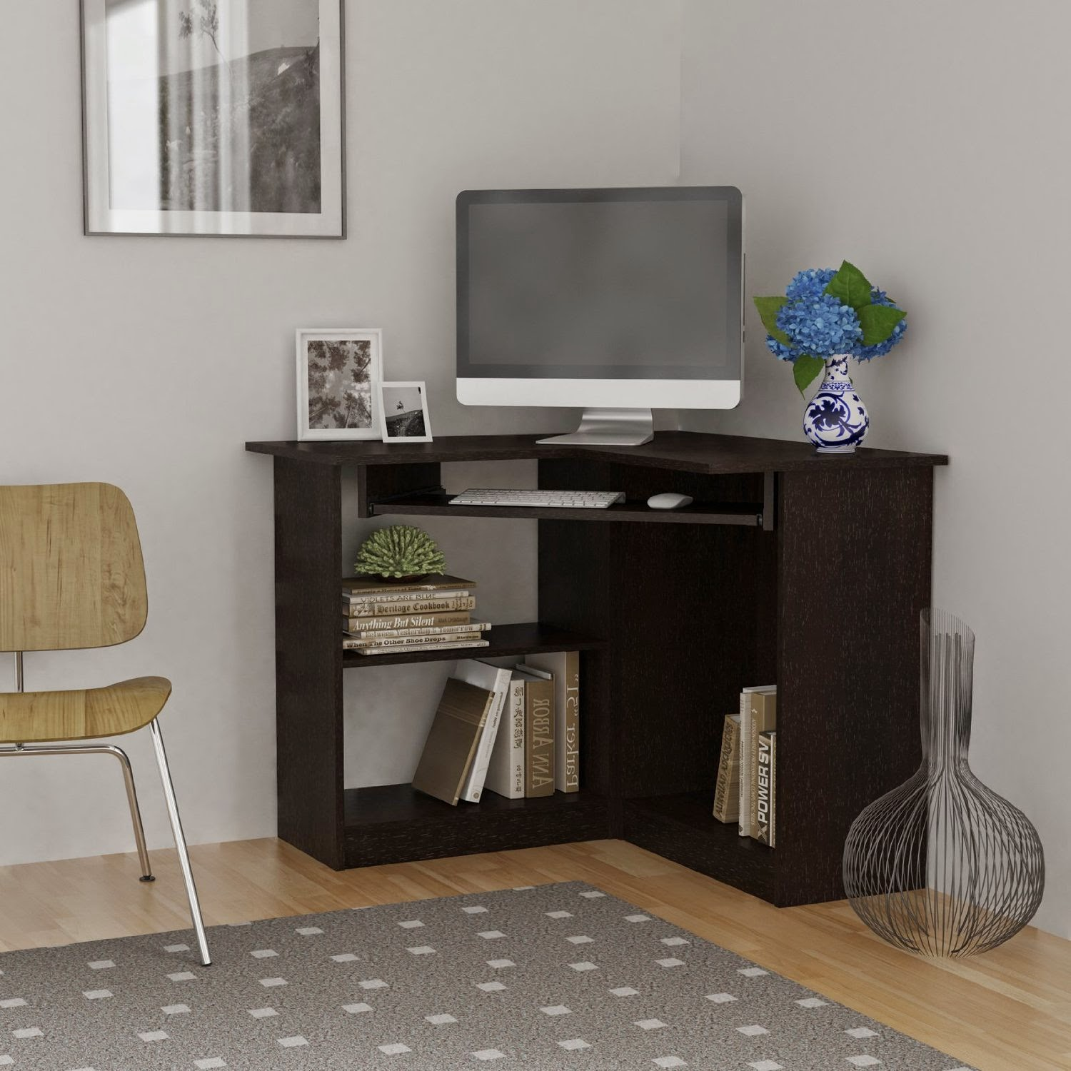 corner computer desks corner computer desks for small spaces. Black Bedroom Furniture Sets. Home Design Ideas