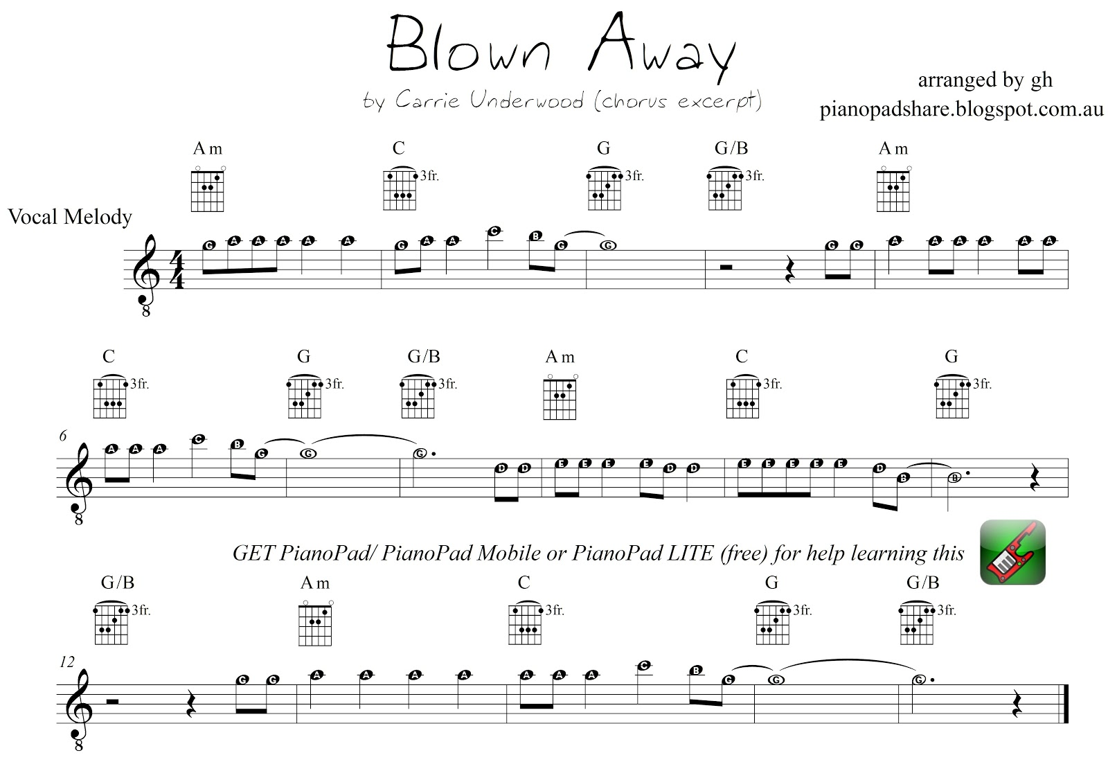 Pianopad Upload Community This Excerpt Titled Blown Away By
