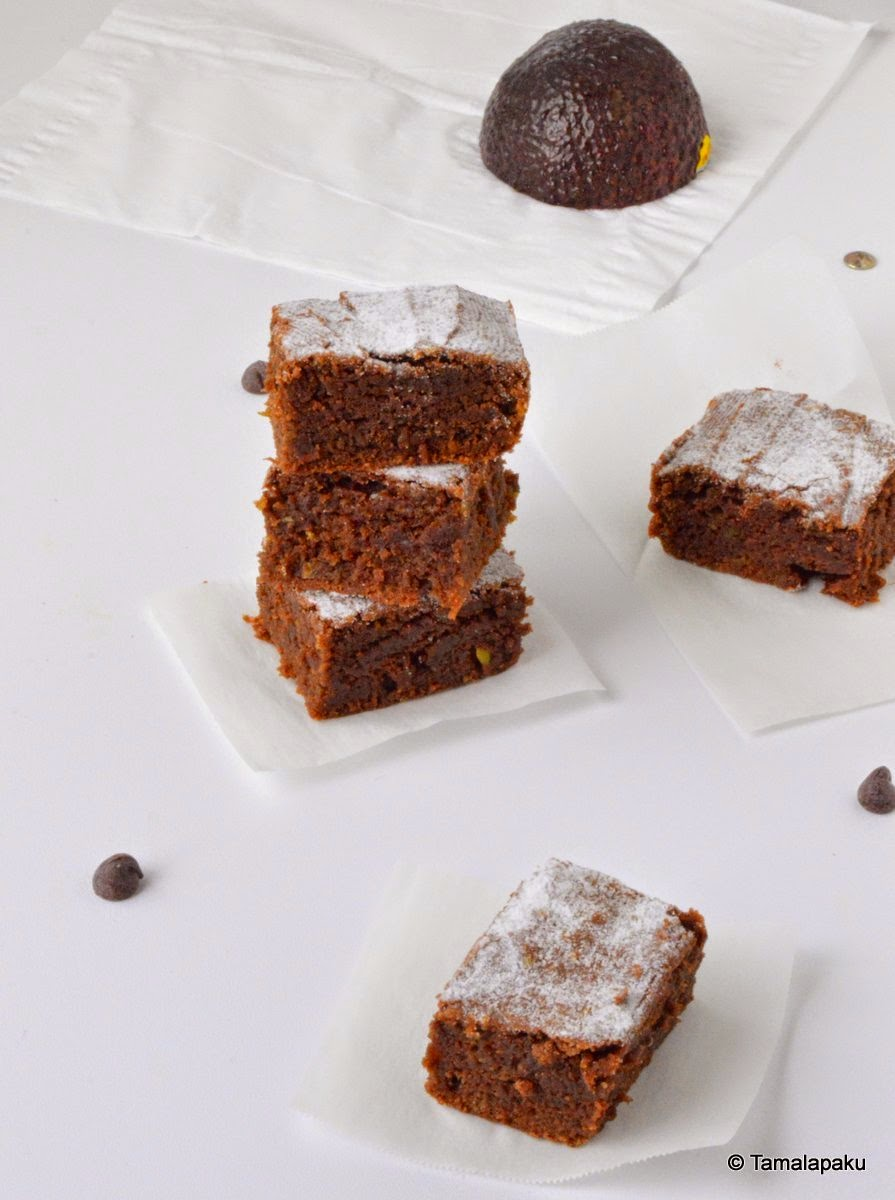 Eggless Avocado Brownies