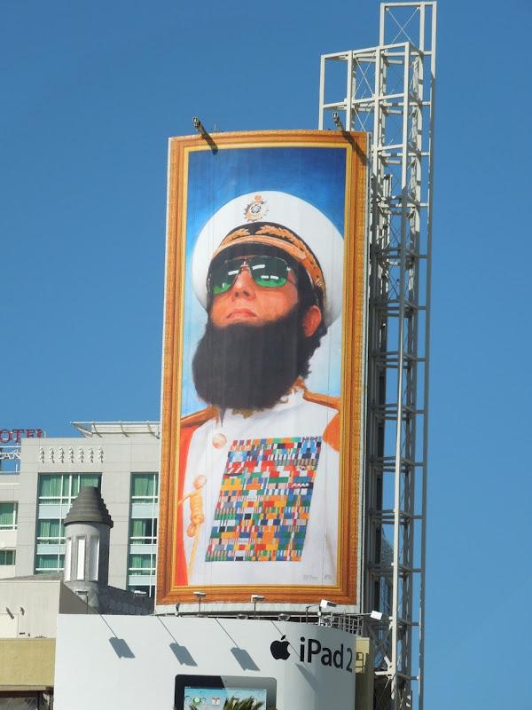 The Dictator billboard Hollywood