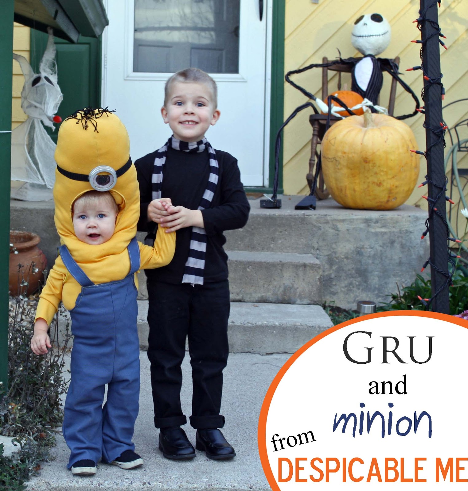 So for the kids we had Gru and a minion from the movie Despicable Me.  sc 1 st  Running With Scissors & Running With Scissors: Gru and Minion Halloween Costume