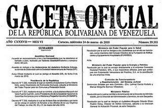 Chavez Decreto Semana Santa 2011 : Decreto 39393