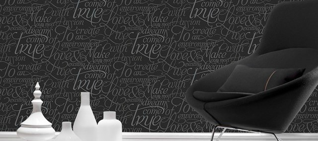 Dreams Come True - Script Wallpaper from Graham & Brown