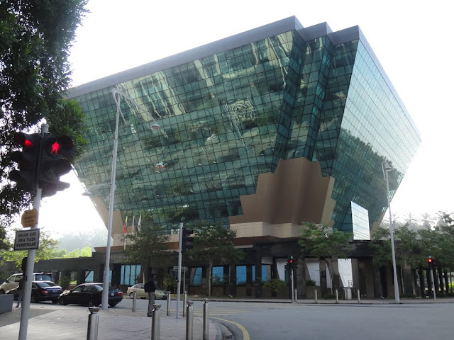The Headquarters of Suruhanjaya Tenaga (the Diamond Building) is designed to reduce the building energy consumption and potable water usage in Putrajaya, Malaysia
