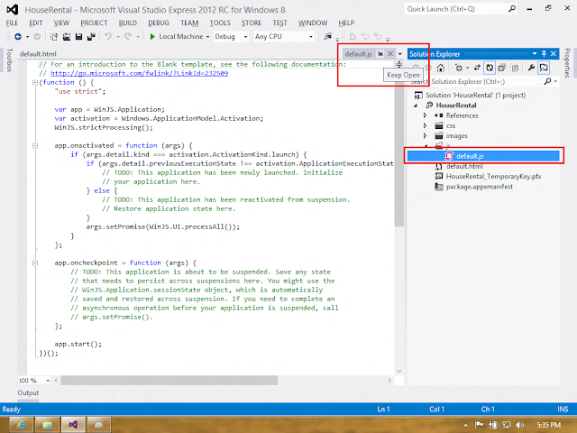 visual studio how to create a project inside other project