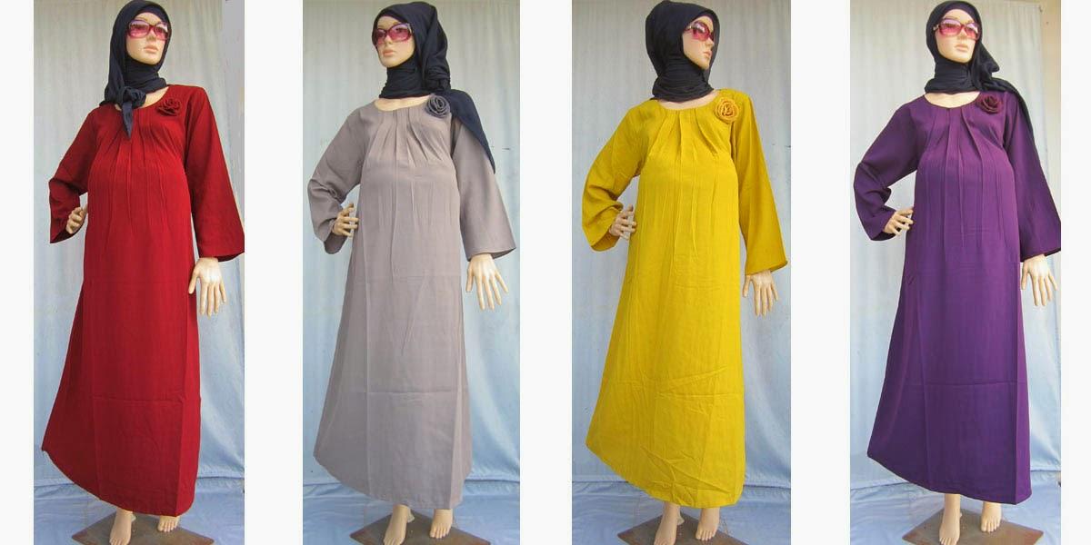 Contoh Model Baju Muslim bagi ibu hamil modern