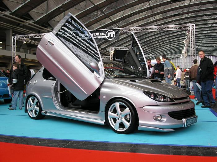 fast auto peugeot 206 cars pictures gallery. Black Bedroom Furniture Sets. Home Design Ideas