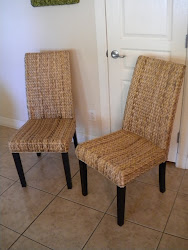 banana leaf dining chairs...SOLD