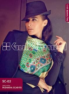 Gul ahmed pashminas shawls