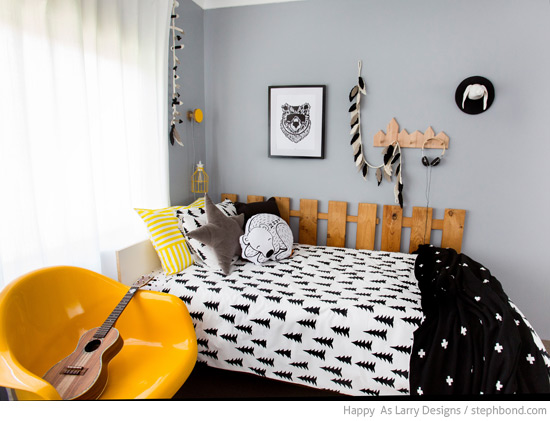 Bondville Black White And Yellow Boy 39 S Bedroom 9 Years