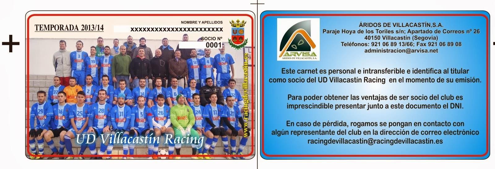 ¡¡¡HAZTE SOCIO DEL UD VILLACASTIN RACING !!!!