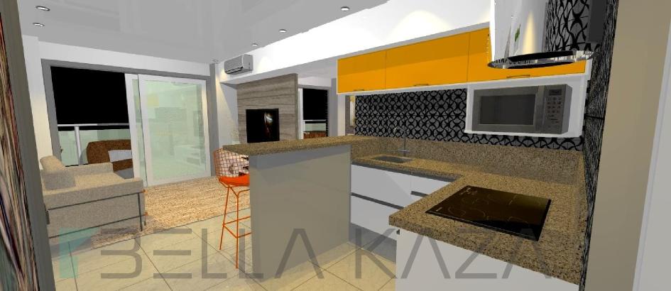 cozinha americana landscape beira-mar