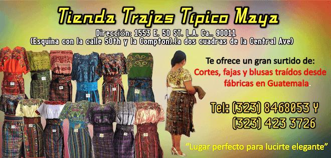 TIENDA TRAJES TIPICO MAYA