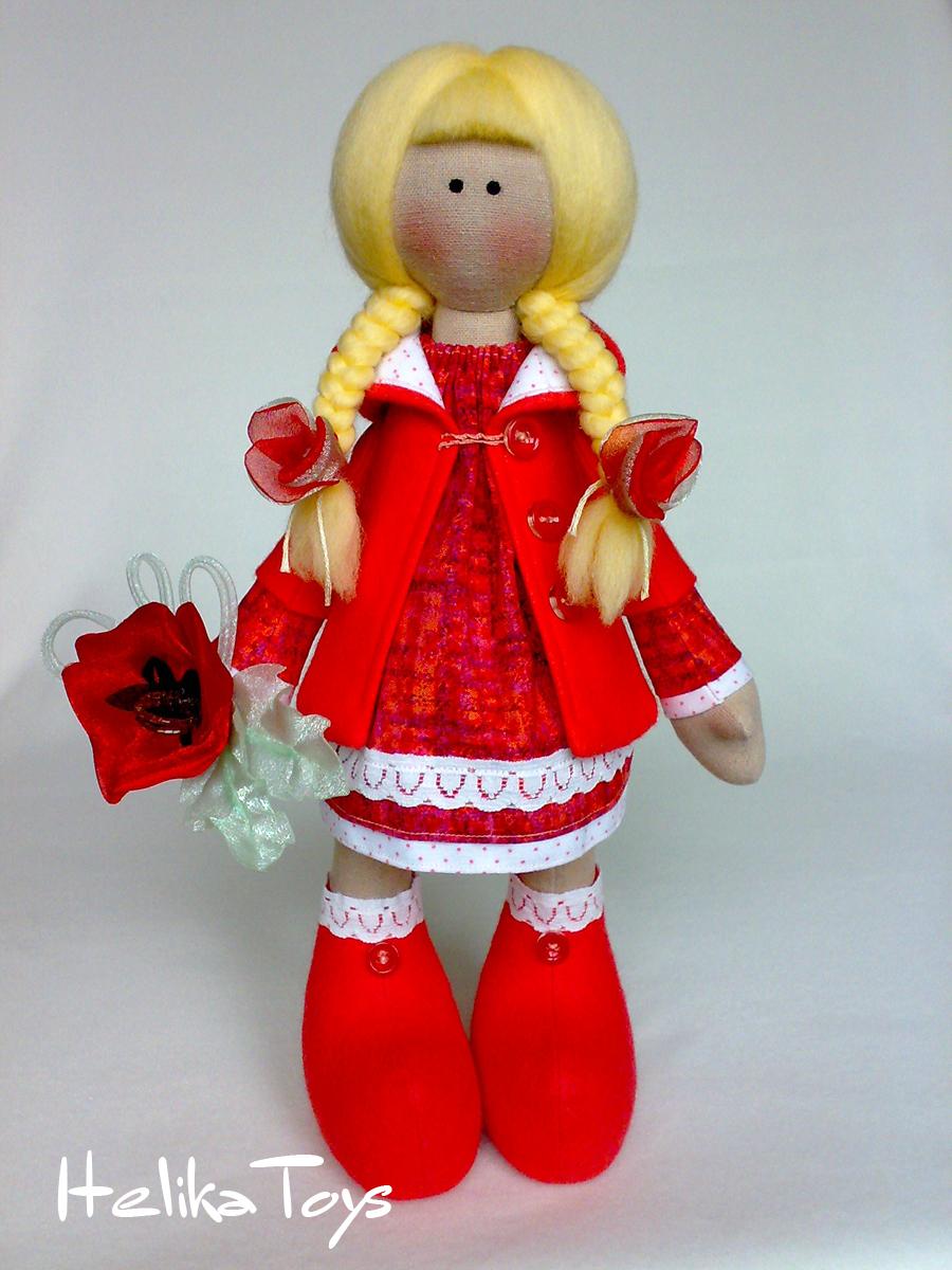 И солнечная кукла получилась у нее