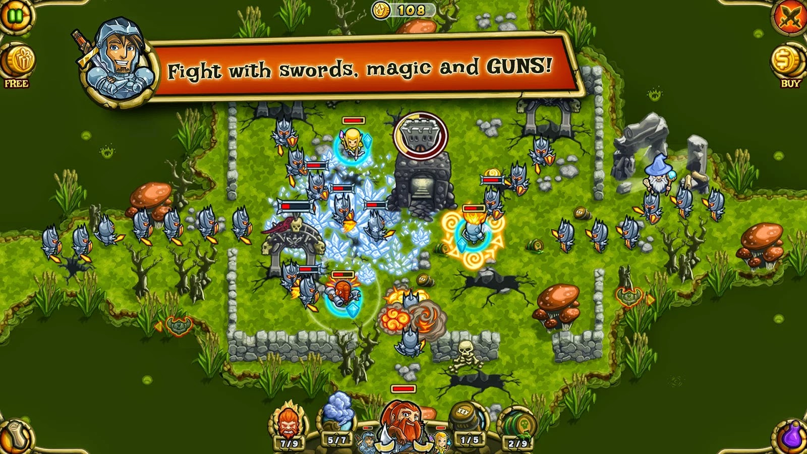 Guns'n'Glory Heroes Premium v1.2.3 Mod [Unlimited Gold]