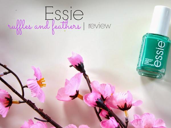 Essie 'ruffles & feathers' + Маникюр на деня | Review
