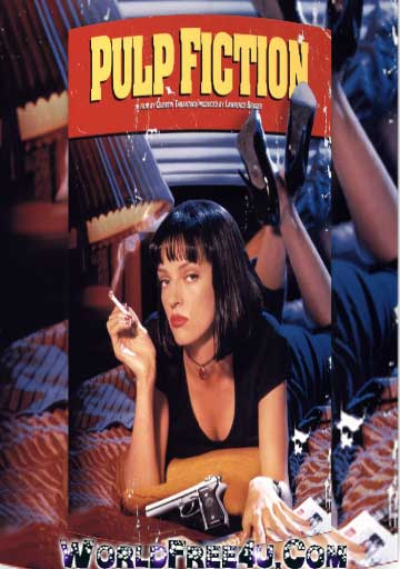 Poster Of Pulp Fiction (1994) Full English Movie Watch Online Free Download At worldfree4u.com