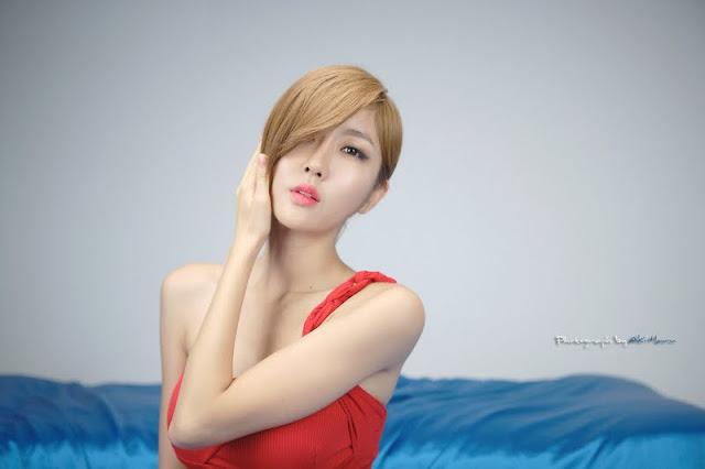 Choi Byul I – One Shoulder Red Dress