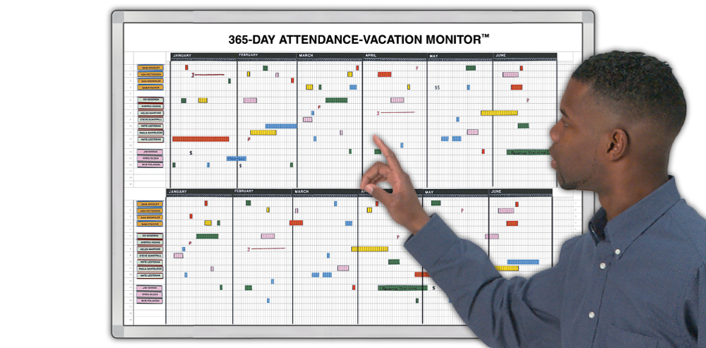 Free Employee Attendance Planner and Tracker template - Free Templates ...