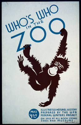 animal poster, wildlife, wpa, federal art project, vintage, vintage posters, graphic design, free download, retro prints, classic posters, Who's Who in the Zoo - Illustrated Natural History Prepared by the WPA - Vintage Animal Poster