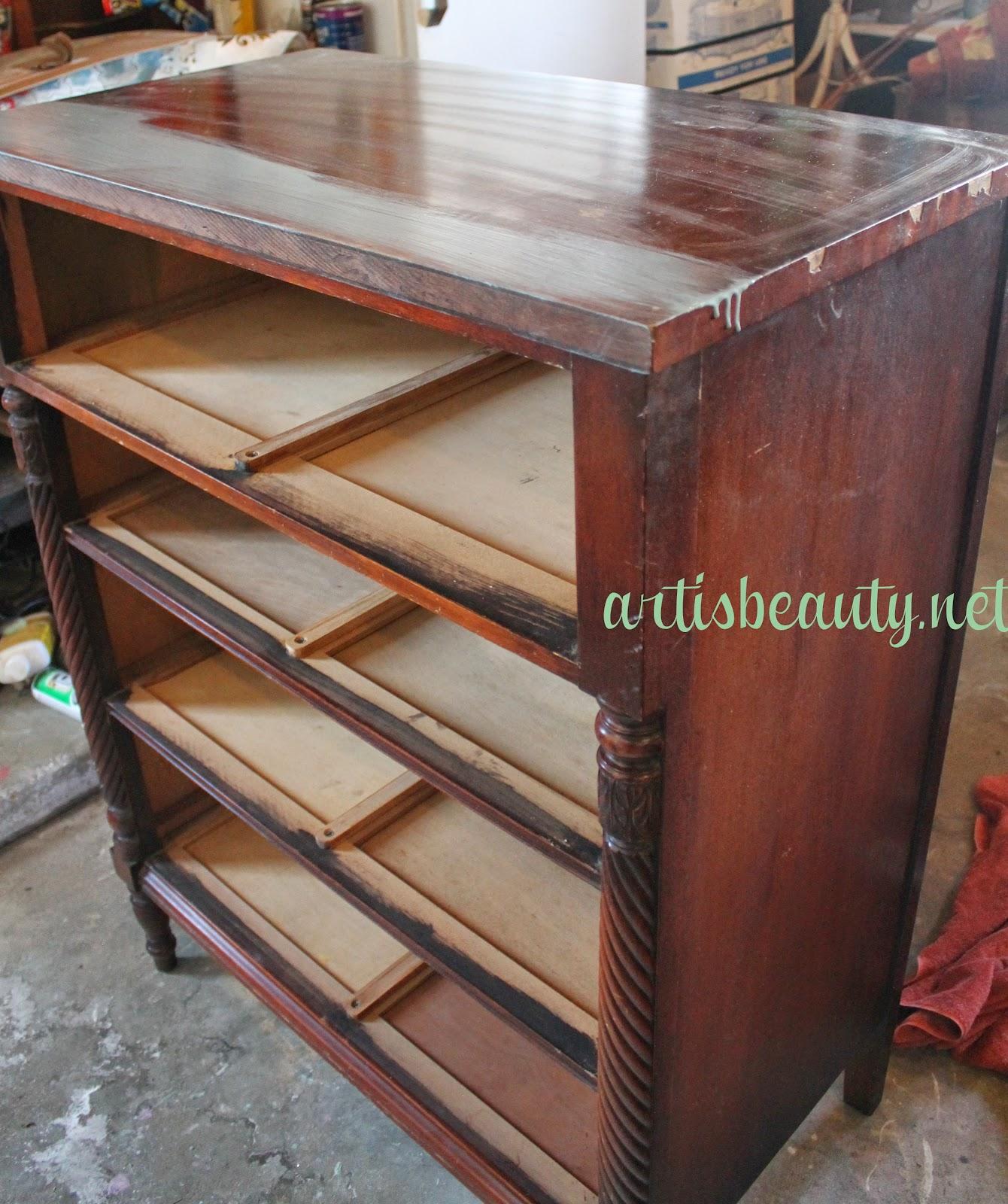 ART IS BEAUTY Antique KINDEL Dresser Makeover and a