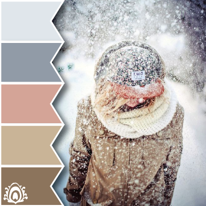 WINTER TONES COLOR PALETTE pastel feather studio