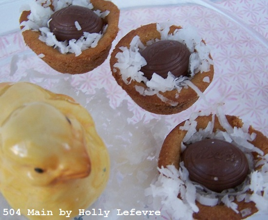 Reese's Milk Chocolate Peanut Butter Egg Chocolate Chip Cookie Nests