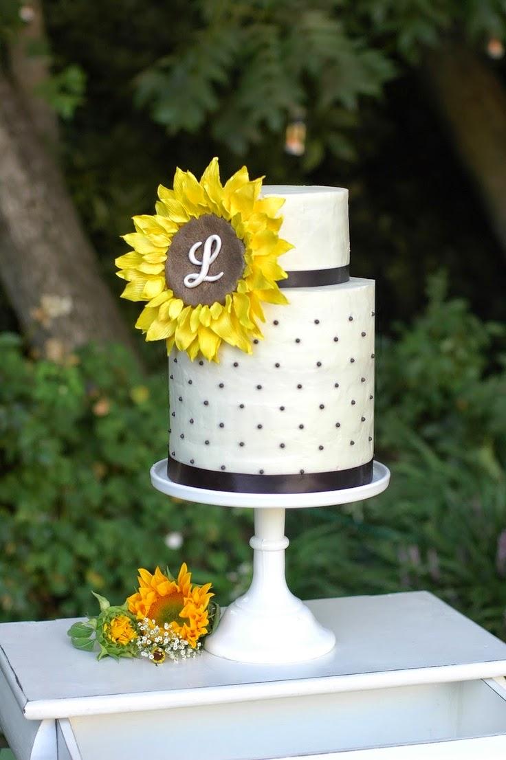 sunflower wedding cake wedding stuff ideas. Black Bedroom Furniture Sets. Home Design Ideas