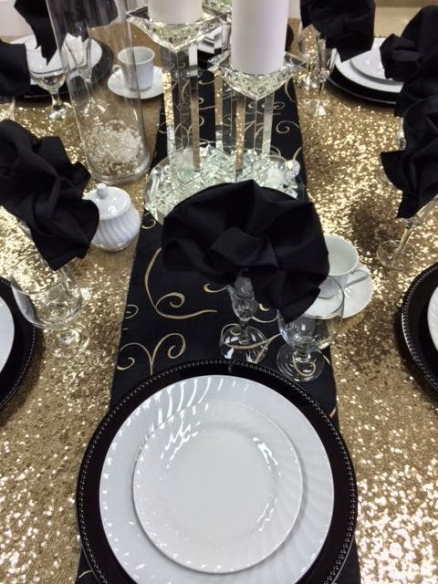 Gold and Black Table Inspiration & gold and black table settings u2013 Loris Decoration