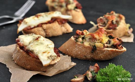 Bruschetta mit Bacon