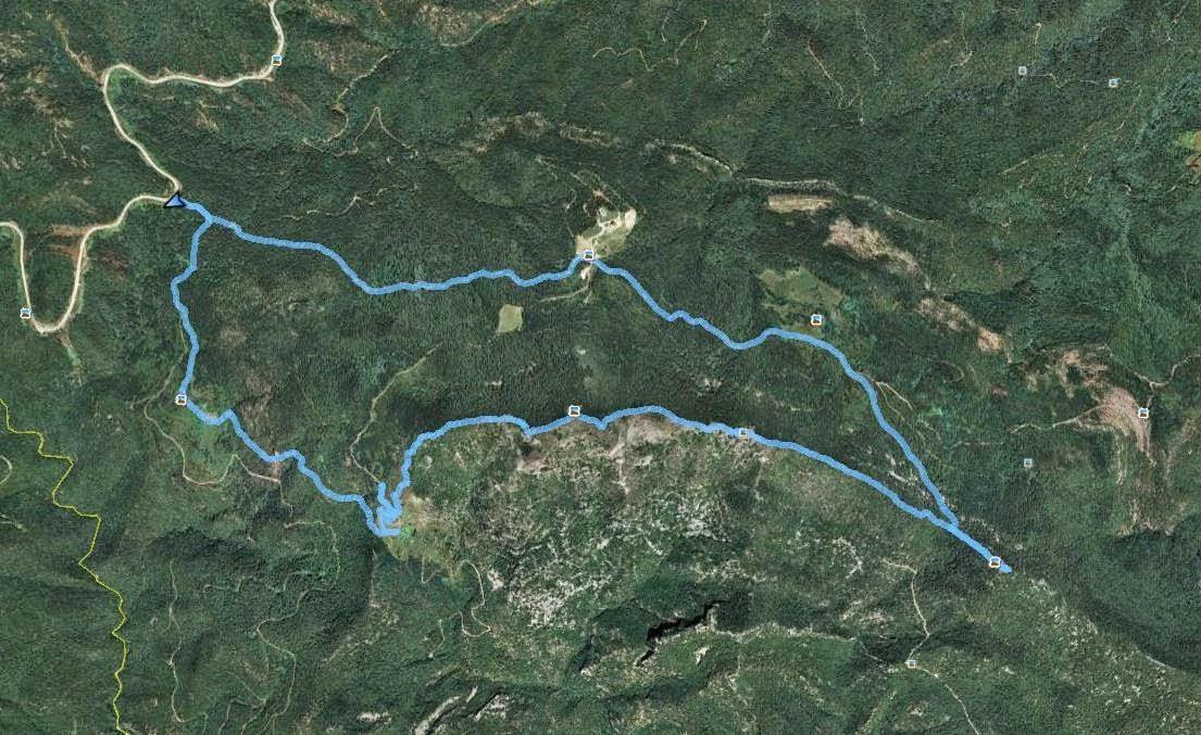 Recorregut: Coll dels Horts-Castell del Bac de Grillera