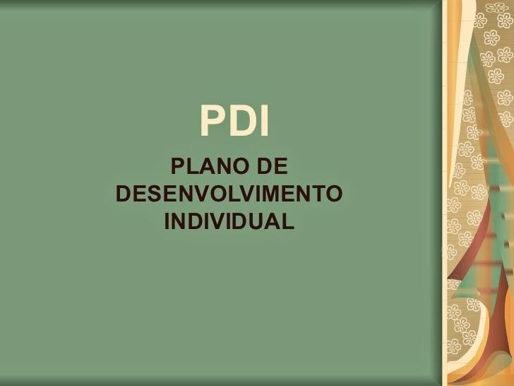 imagem PLANO DE DESENVOLVIMENTO INDIVIDUAL DO ALUNO