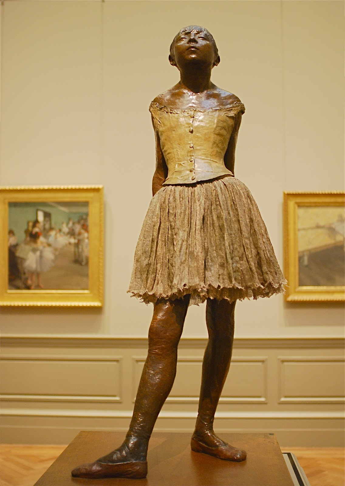 the little fourteen year old dancer sculpture description Degas' fourteen year old little dancer the little dancer is a very poignant, deeply felt work of art in which a little girl of fourteen.