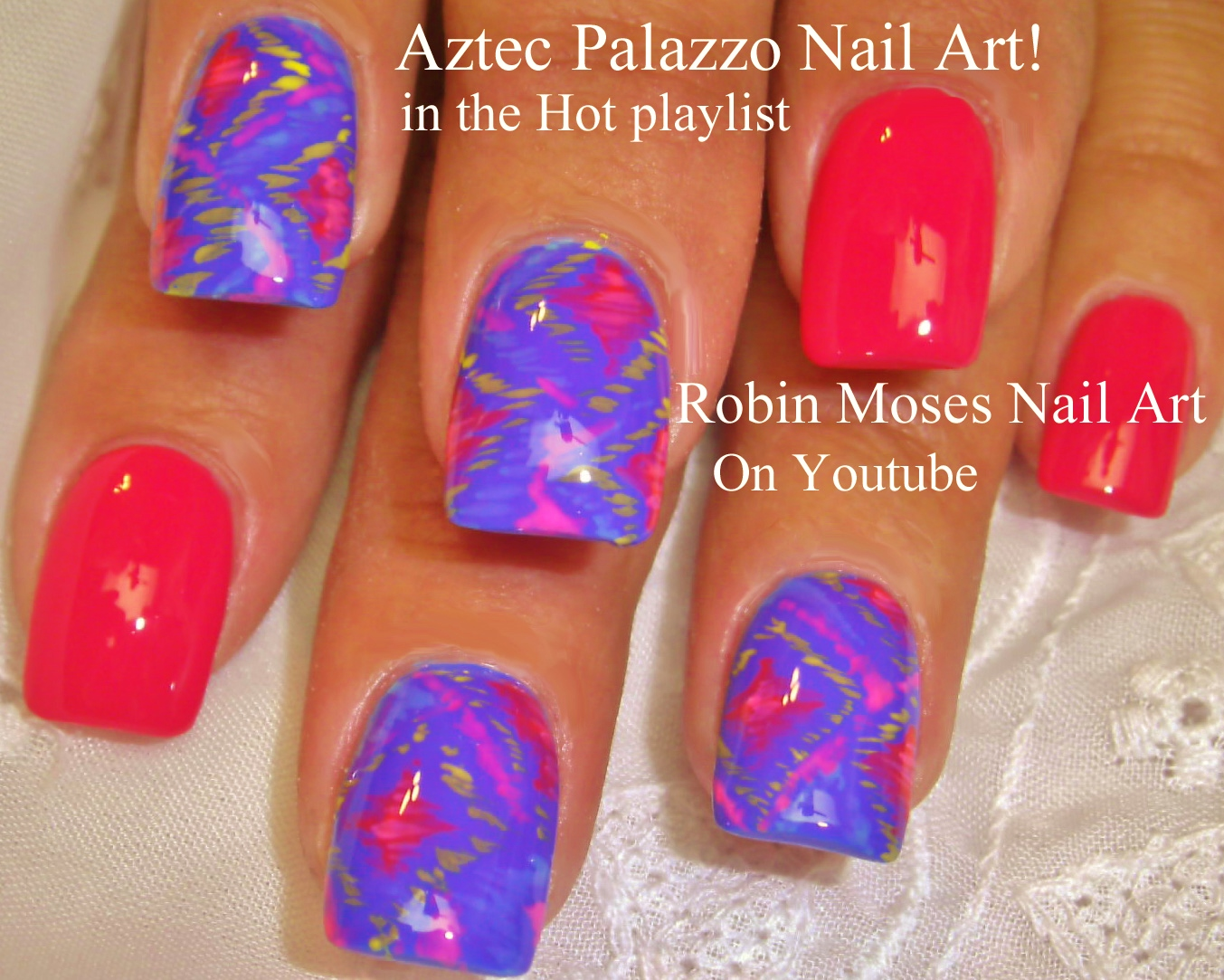 Neon Summer Ombre Splatter Paint Nail Design Nail Design Ideas
