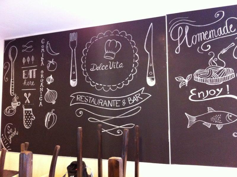 Mariana parrotta dolce vita restaurante bar ilustraciones para pizarra - Pizarras de bar ...
