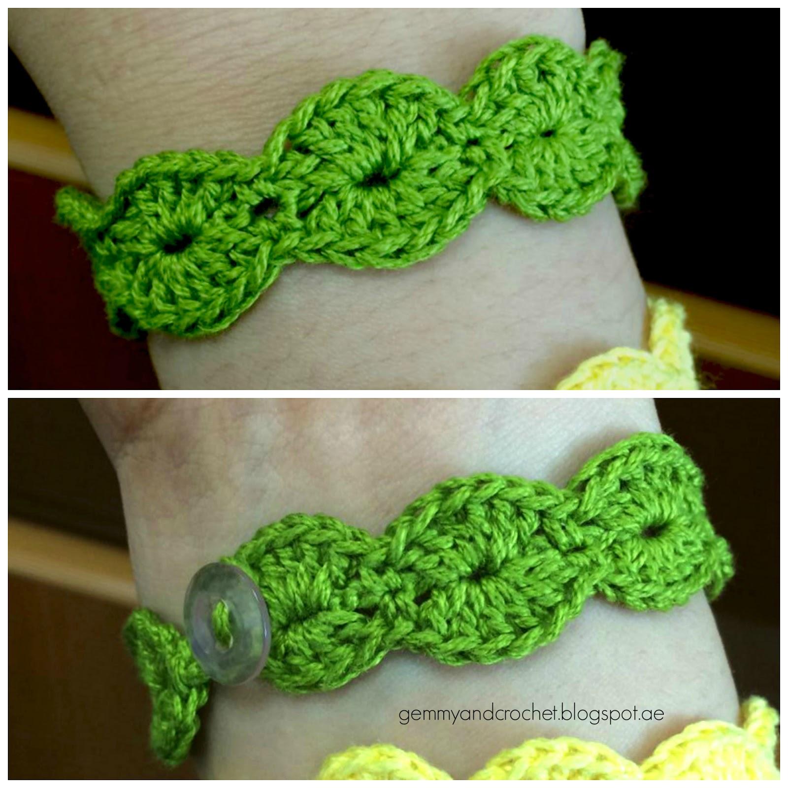 Crochet scallop bracelet, scallop crochet, crochet bracelet, scallop pattern, crochet scallop bracelet pattern