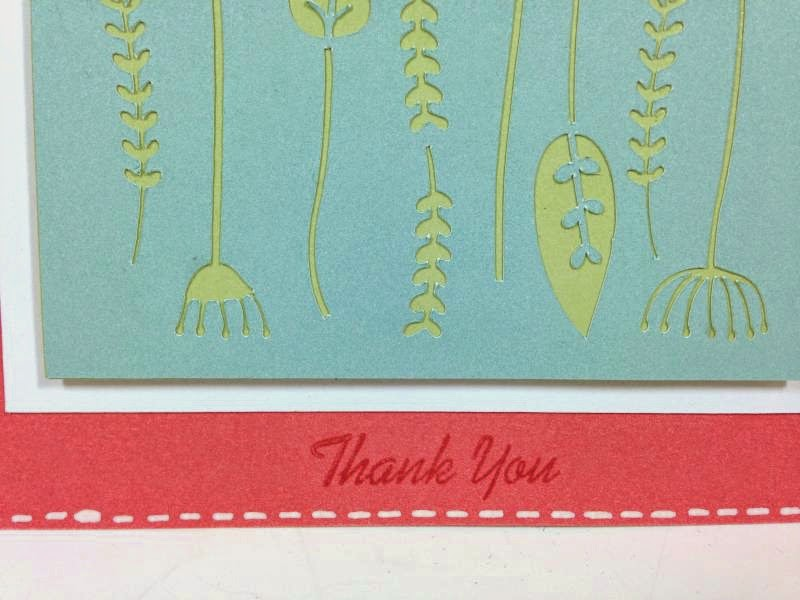 Close To My Heart Artfully Sent Cricut cartridge Thank you pop-up card closeup