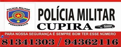 TELEFONE DA POLICIA MILITAR DE CUPIRA