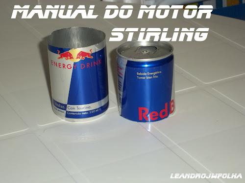 """Manual do motor Stirling, lata para fazer o pistão deslocador """"53mm"""" de diâmetro"""