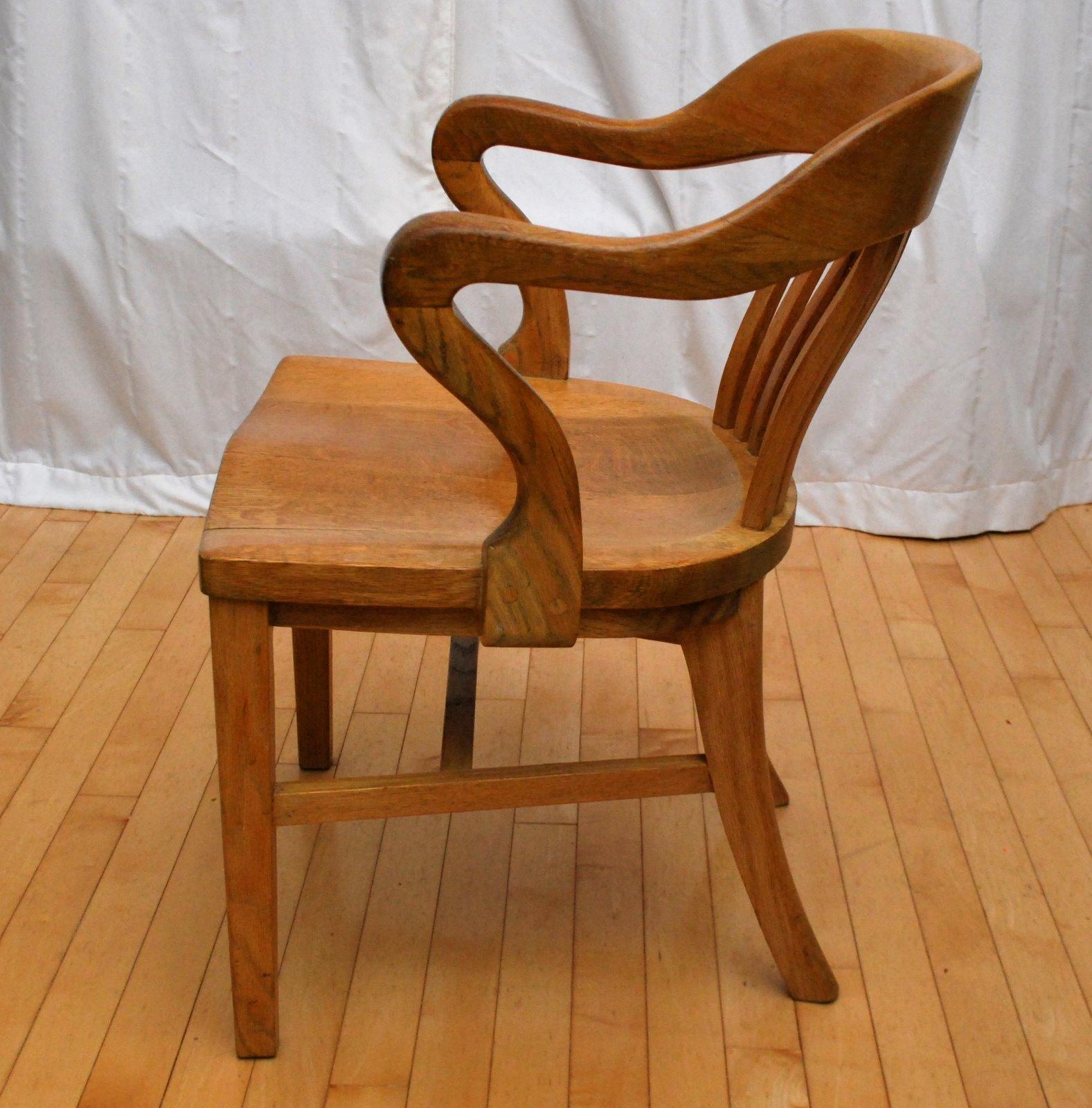tribute 20th decor 1940 s oak desk chair