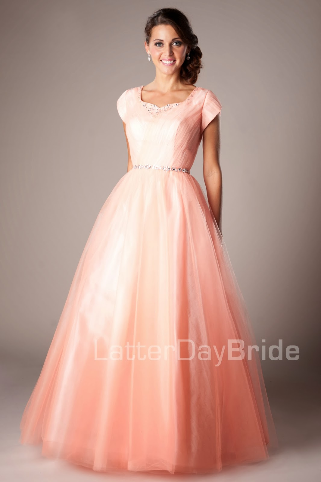 Lds Wedding Gowns For Rent : Dresses modest prom cheap short formal