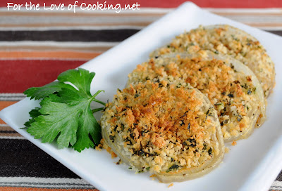 Roasted Sweet Onions with Herbed Bread Crumbs