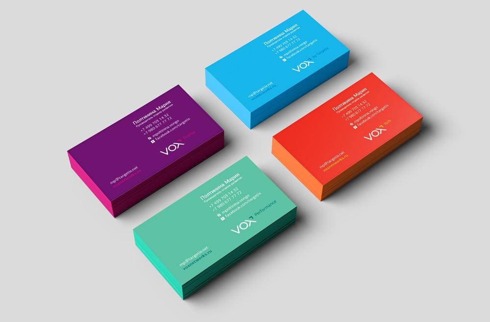Colorida tarjeta de presentación