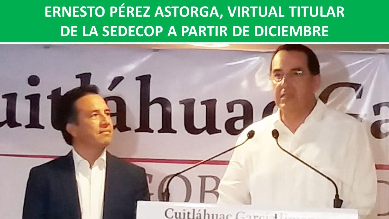 TITULAR DE LA SEDECOP A PARTIR DE DICIEMBRE