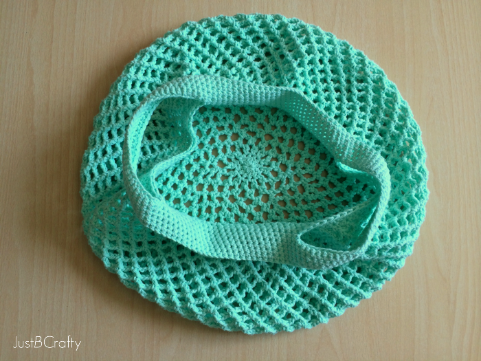 Crochet Grocery Bag Pattern : Crochet Mesh Grocery Tote Pattern