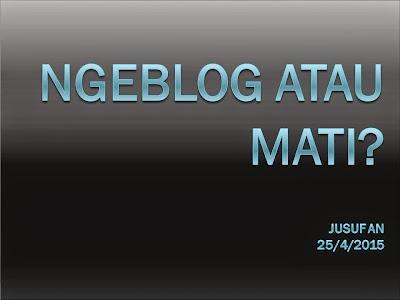 untuk apa ngeblog