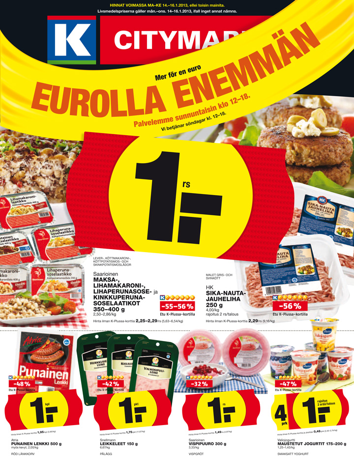Kcitymarket tarjoukset