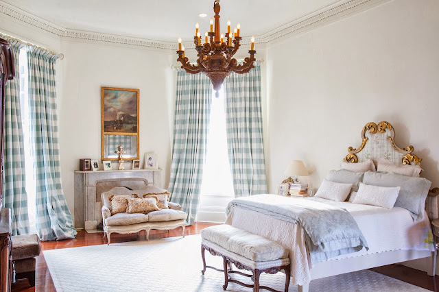 Bright bedroom in the Captain's House in New Orleans, LA